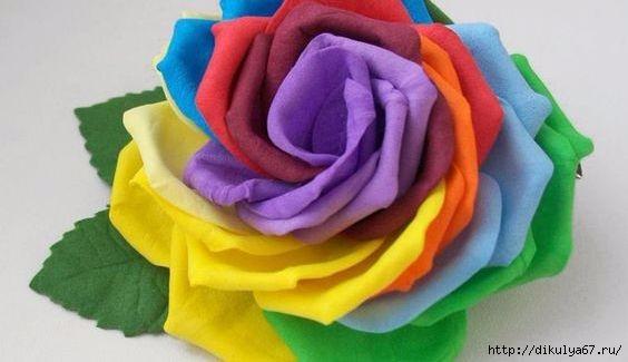 make-rainbow-rose
