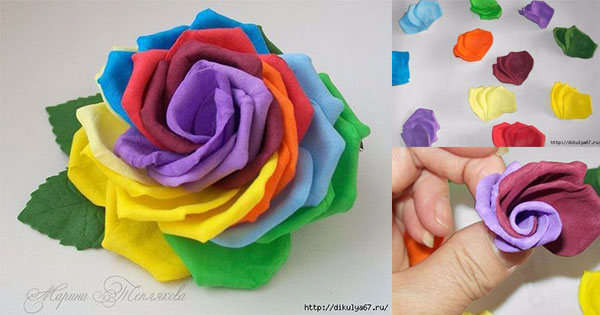 make rainbow rose