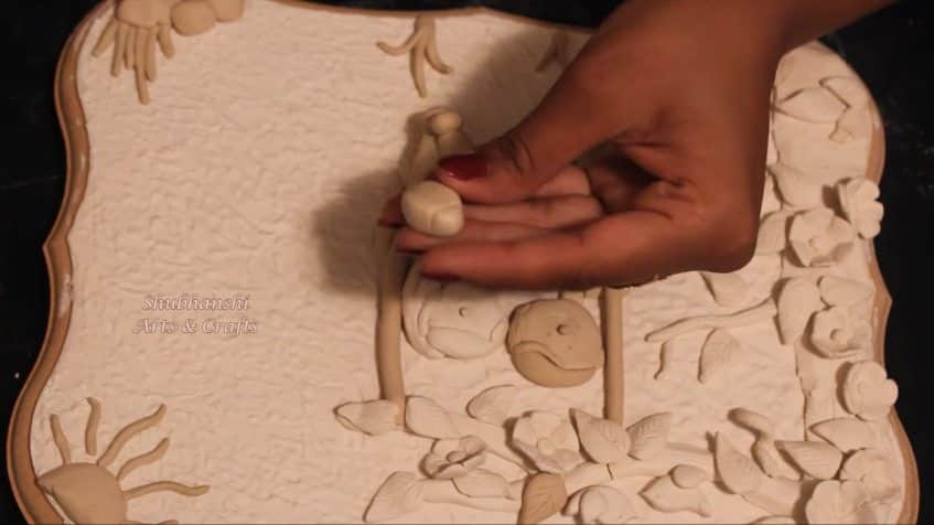 How to make a wall hanging from clay15