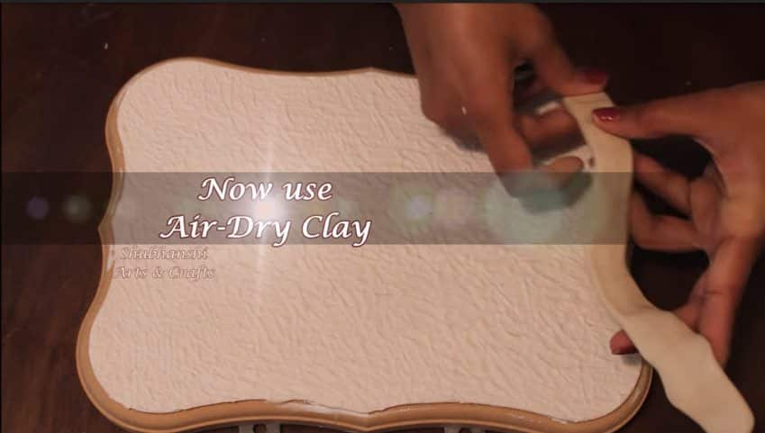 How to make a wall hanging from clay5