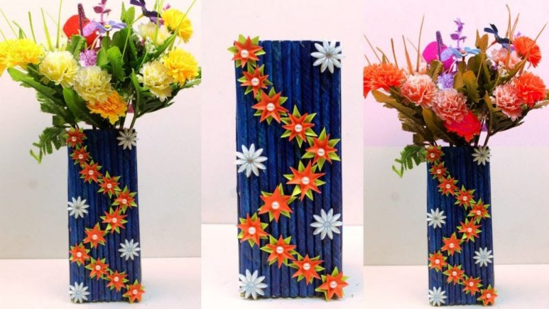 How To Make A Flower Vase Using Waste Materials Get Easy Art And