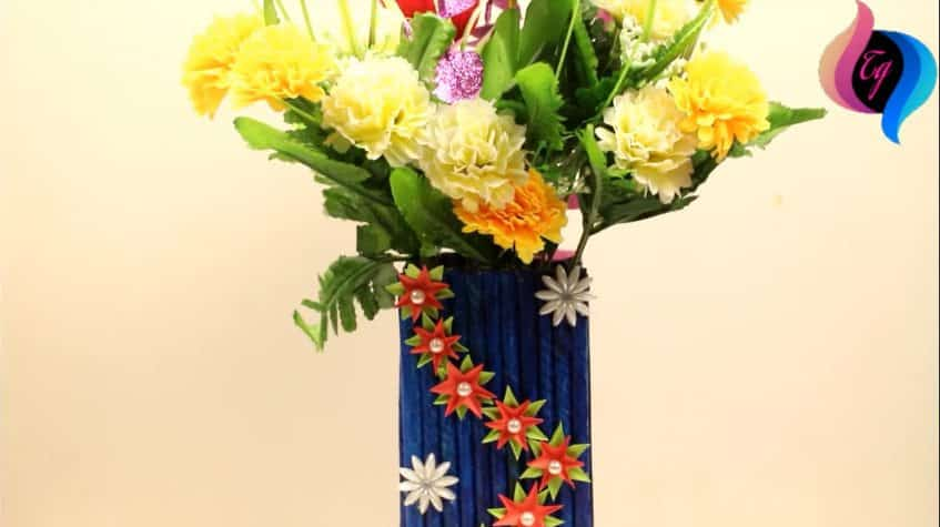 How to make best out of waste flower vase2