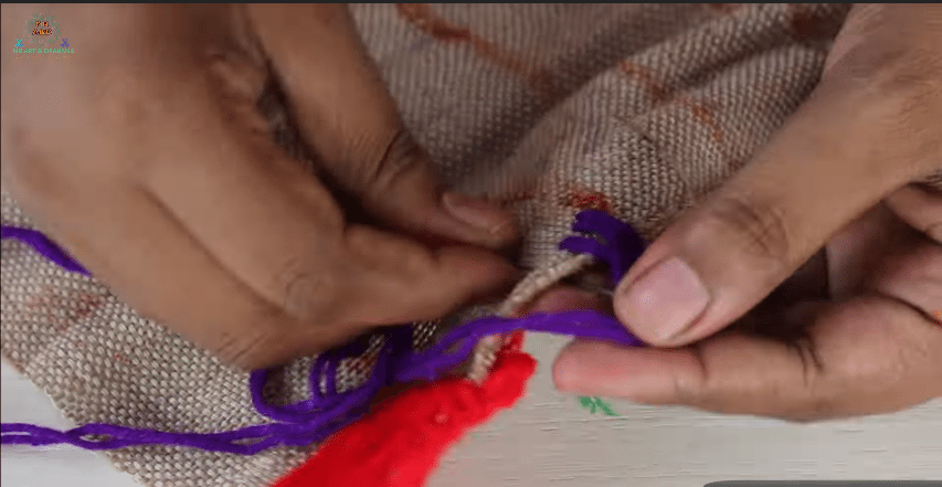 How to make doormats using woolen and jute rugs5