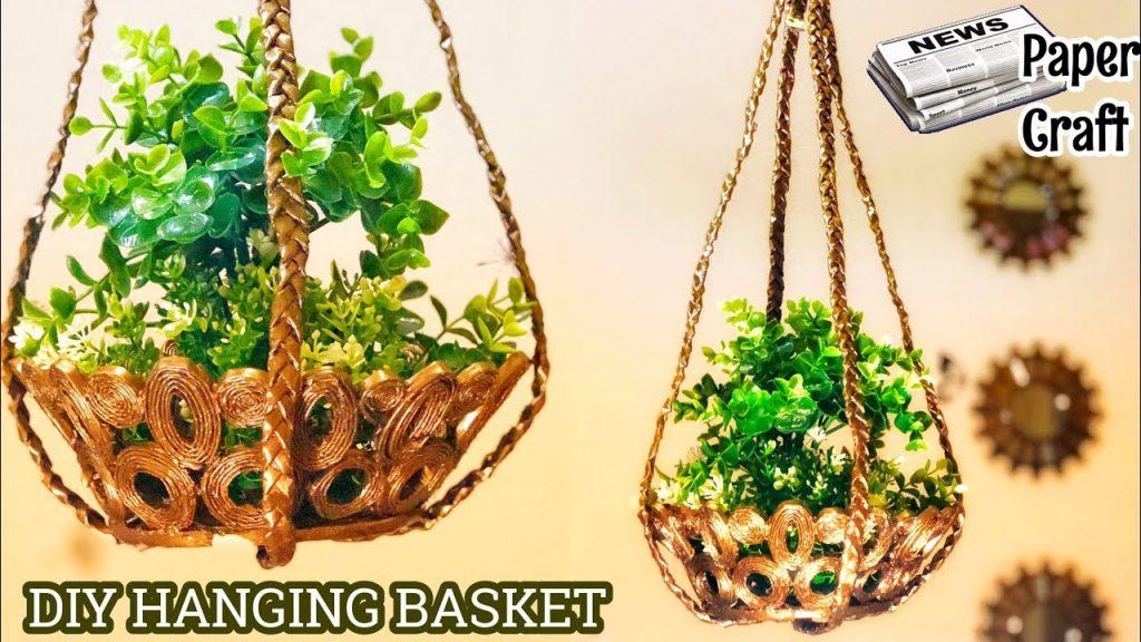 How to make hanging flower basket1
