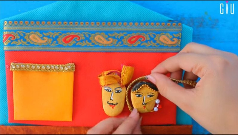 How to make key chain holder for decorating walls using waste material18