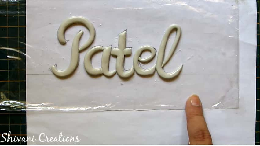 How to make nameplate at home10