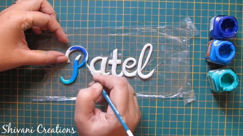 How to make nameplate at home34