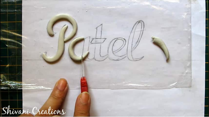 How to make nameplate at home8