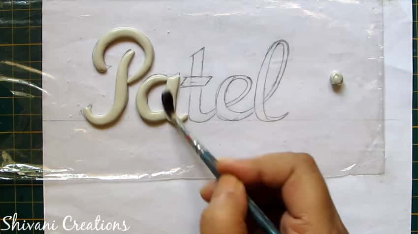 How to make nameplate at home9