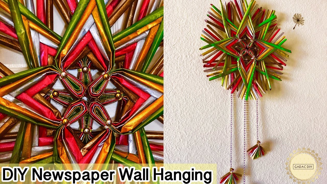 How to make newspaper wall hanging1