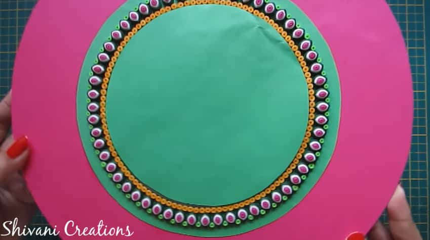 How to make quilling wall mirror18