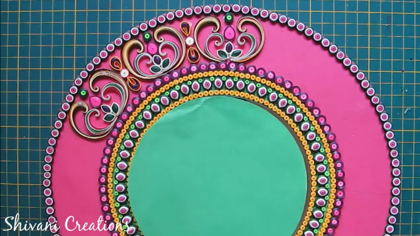 How to make quilling wall mirror33