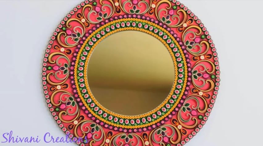 How to make quilling wall mirror36