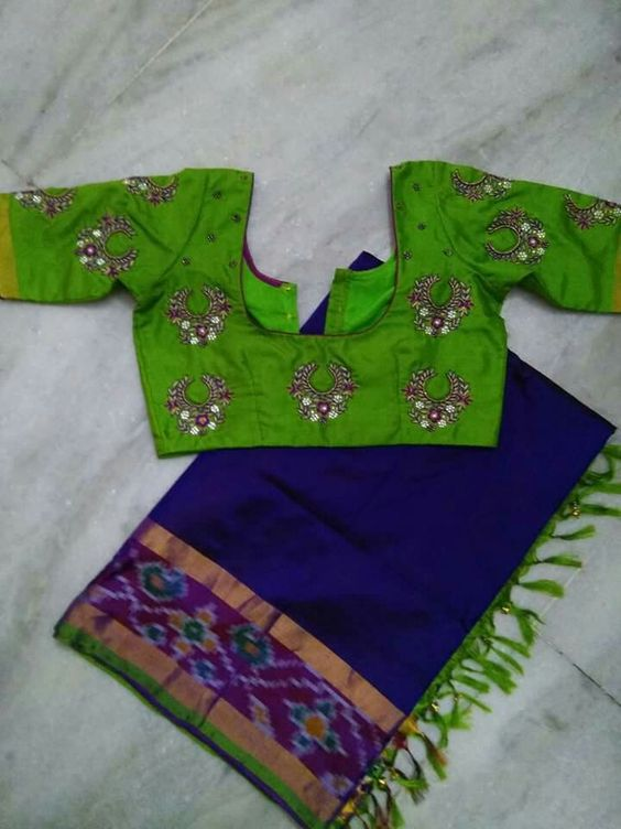 Latest blouse designs with different neck patterns2