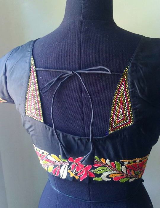 Latest blouse designs with different neck patterns8