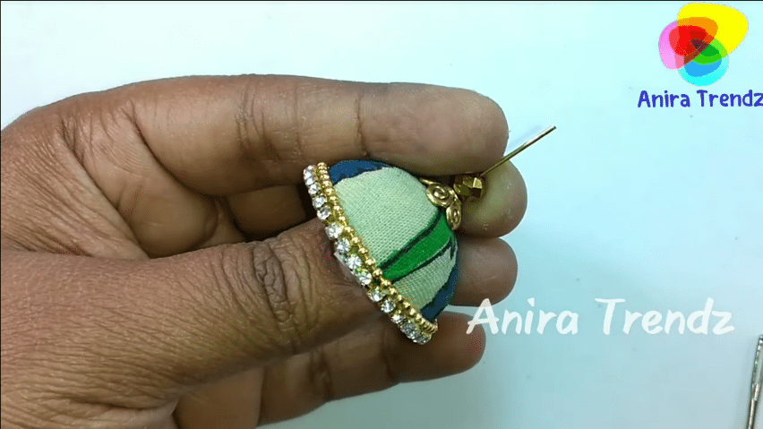 Trendy grand kalamkari jhumka earring tutorial18