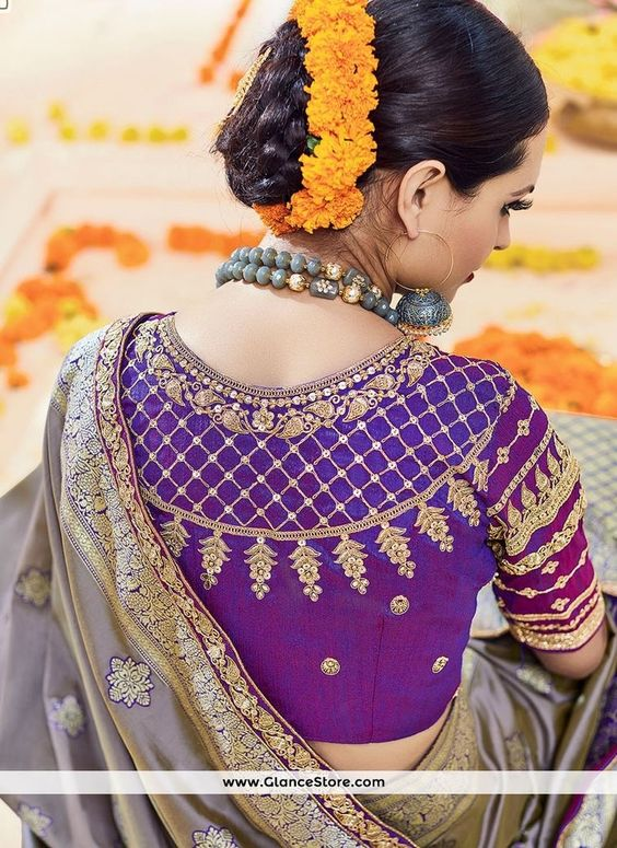 Trendy-silk-saree-blouse-designs-10