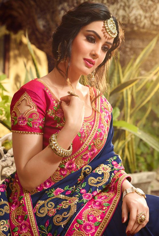 Trendy-silk-saree-blouse-designs-2.