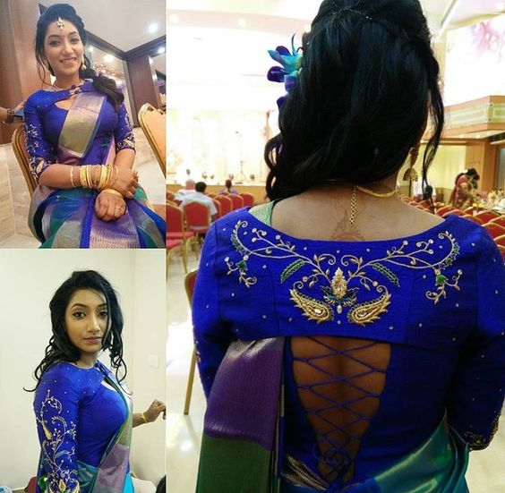 Trendy-silk-saree-blouse-designs-26