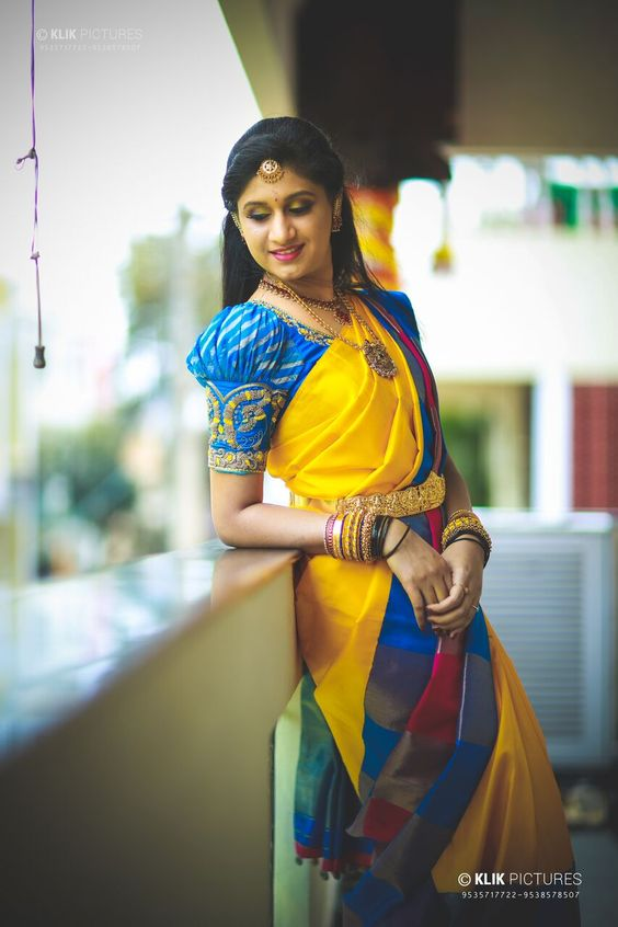 Trendy-silk-saree-blouse-designs-3