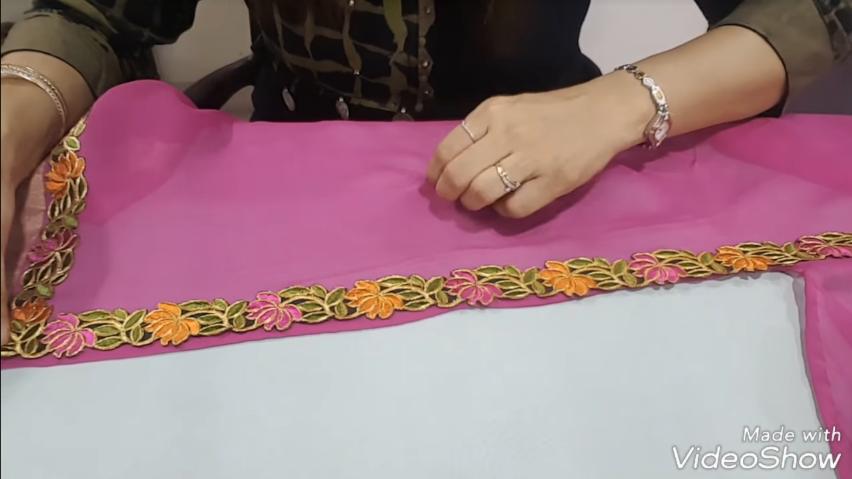 designer fancy cut saree