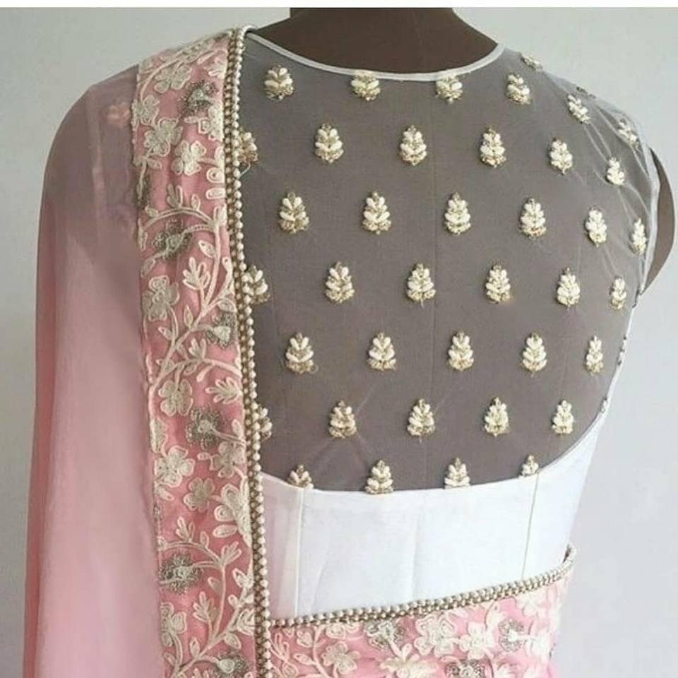 Fancy designer blouse for party wear sarees13