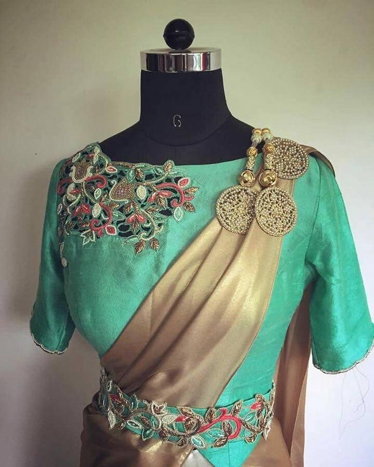 Fancy designer blouse for party wear sarees6