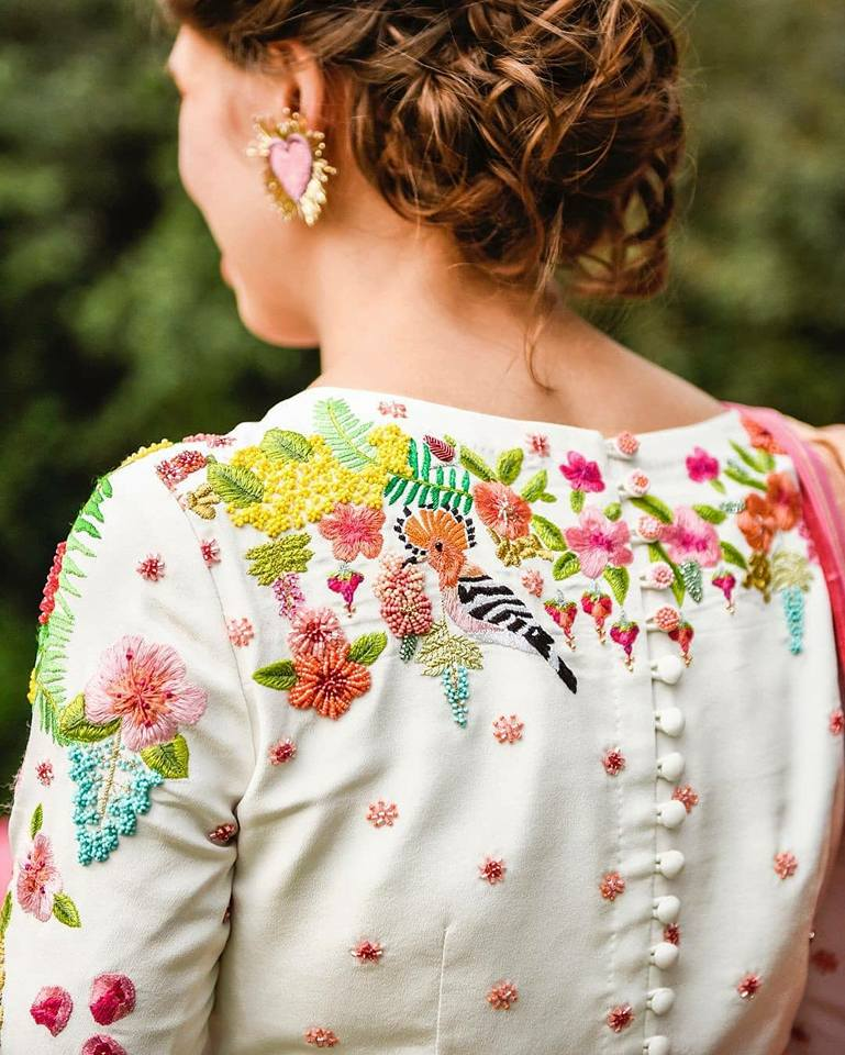 Fancy designer blouse for party wear sarees8