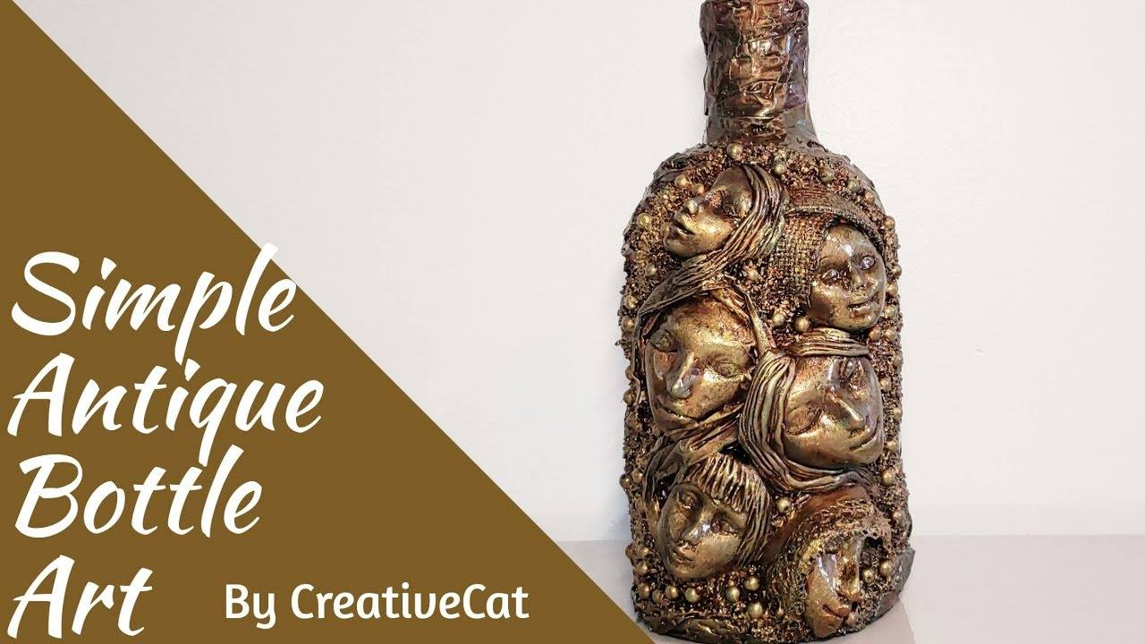 How to do antique bottle art1