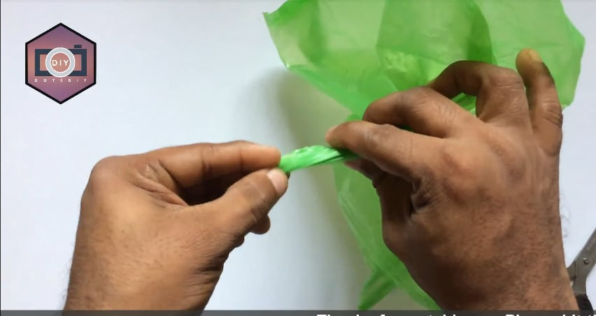 How to make a flower from plastic cover3
