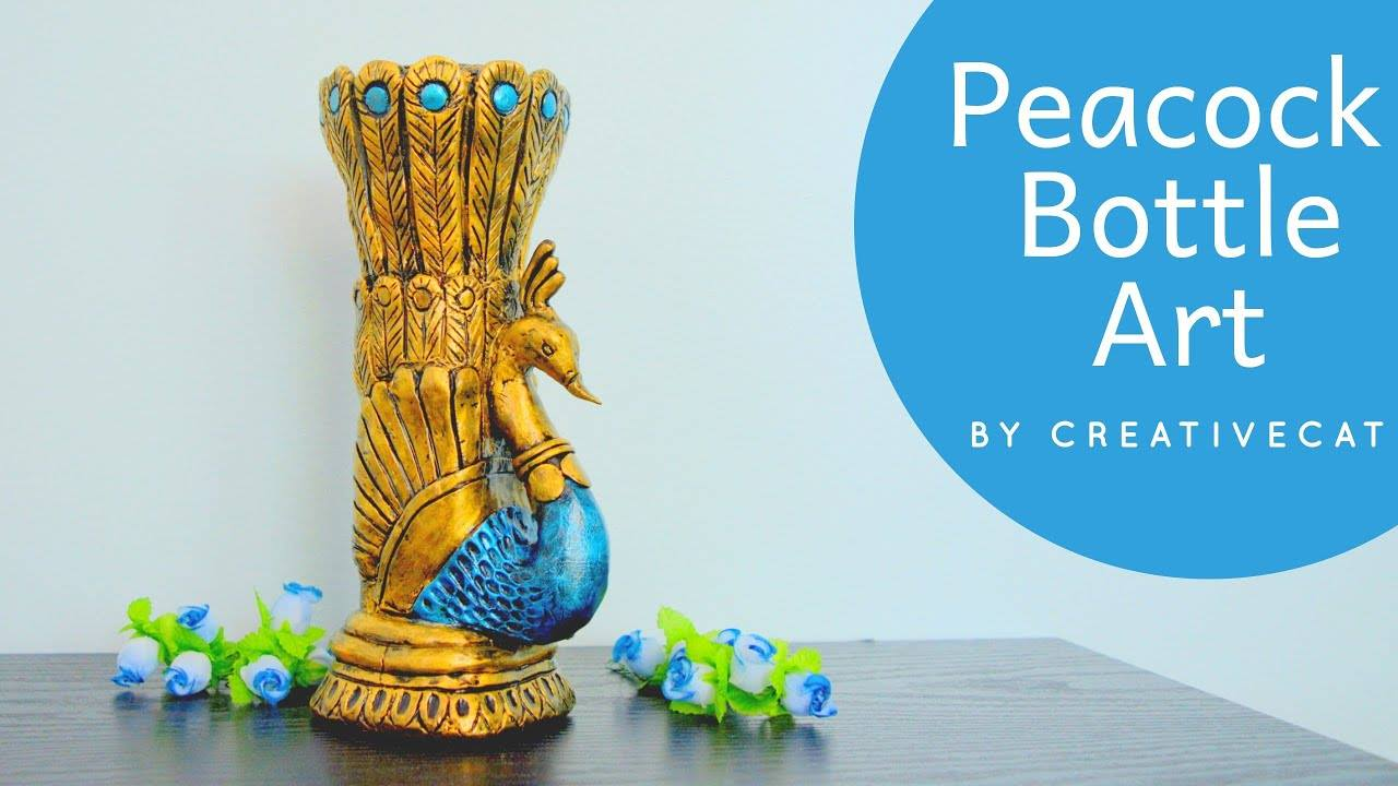 How to make antique peacock vase1