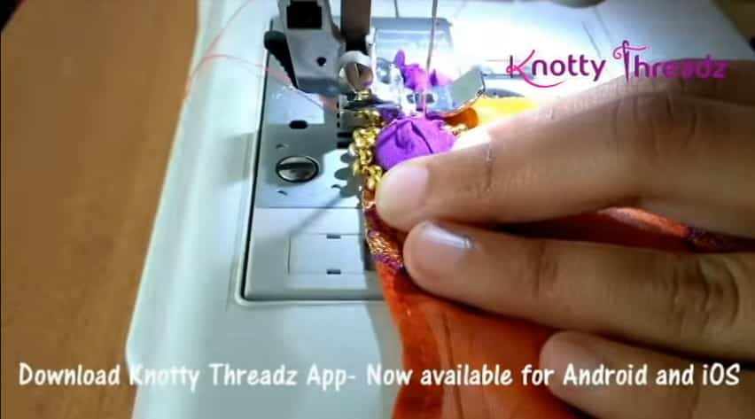 How to make beaded saree edging8