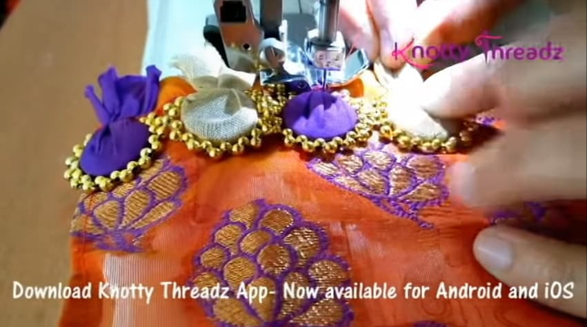 How to make beaded saree edging9