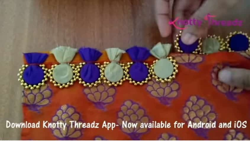 How to make beaded saree edging10