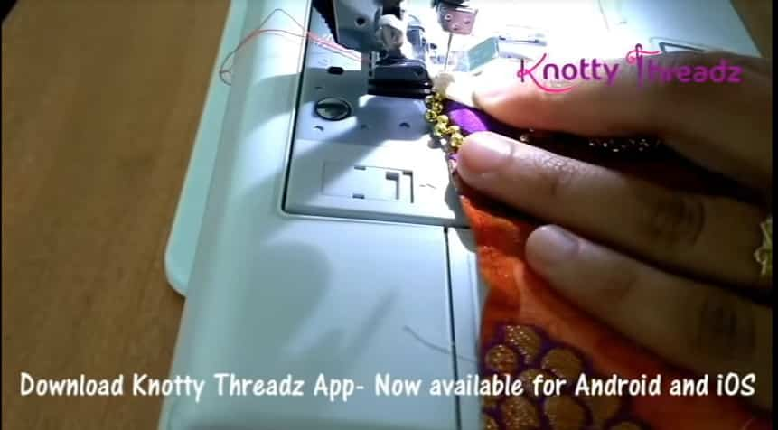 How to make beaded saree edging11
