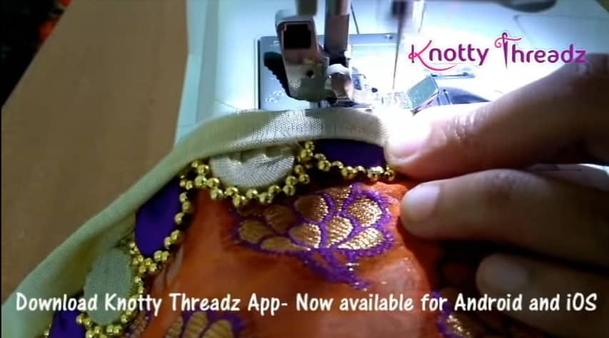 How to make beaded saree edging12