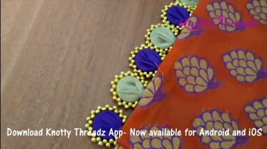 How to make beaded saree edging13