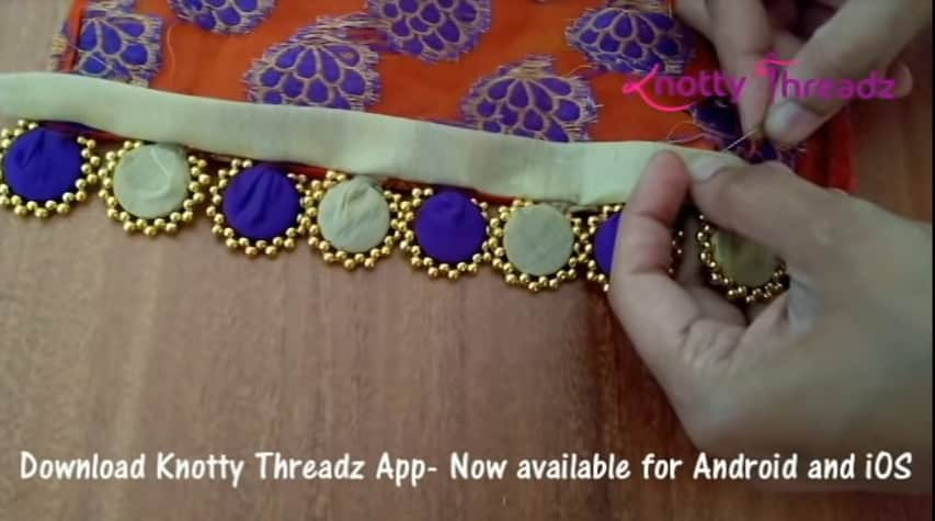 How to make beaded saree edging14