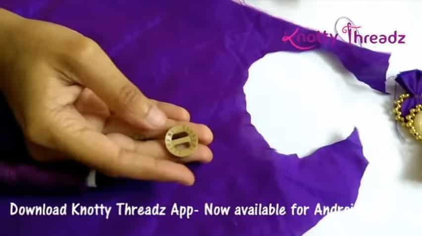 How to make beaded saree edging1