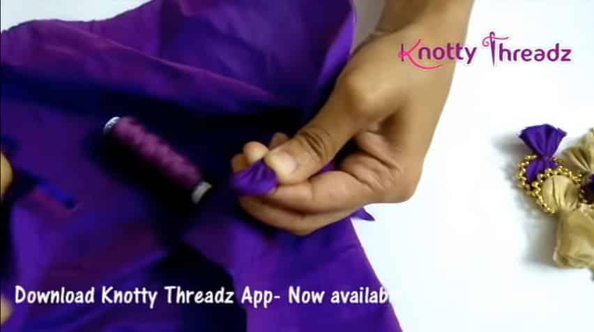 How to make beaded saree edging2