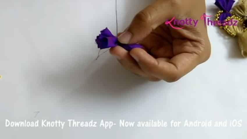 How to make beaded saree edging3