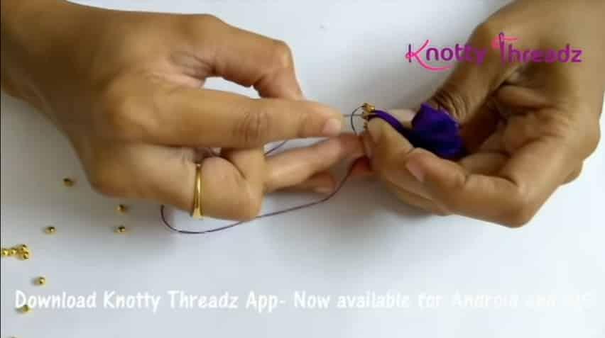 How to make beaded saree edging5