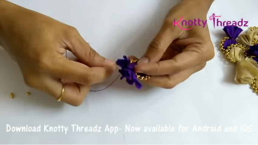 How to make beaded saree edging6