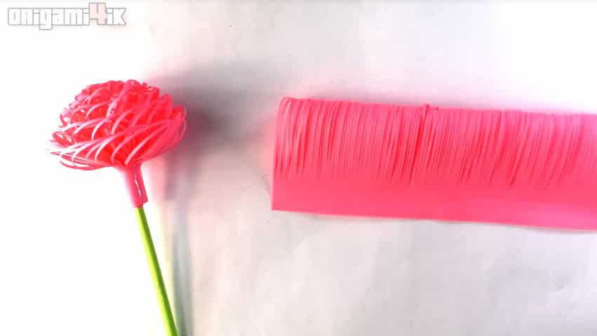 How to make fluffy paper flowers14