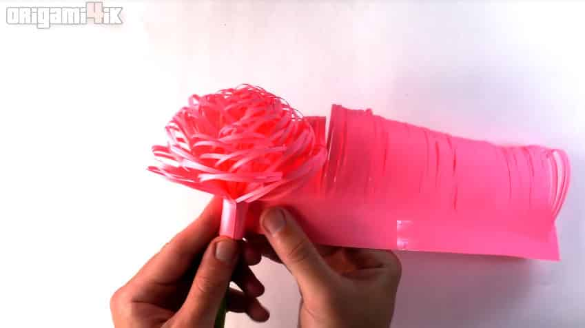 How to make fluffy paper flowers15