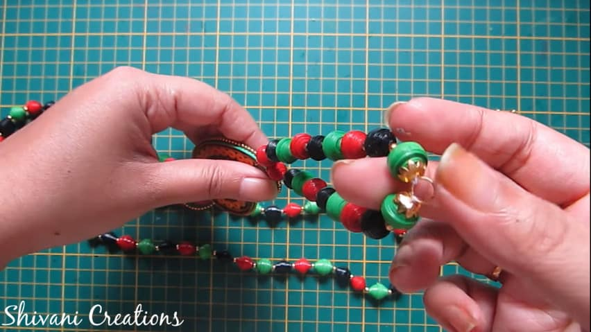 How to make paper quilling necklace set34