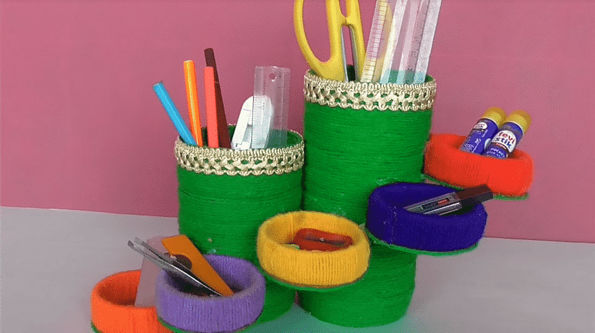 How to make pen stand at home20