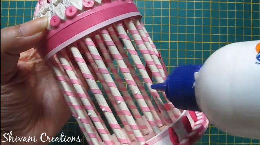 How to make quilled bird house33
