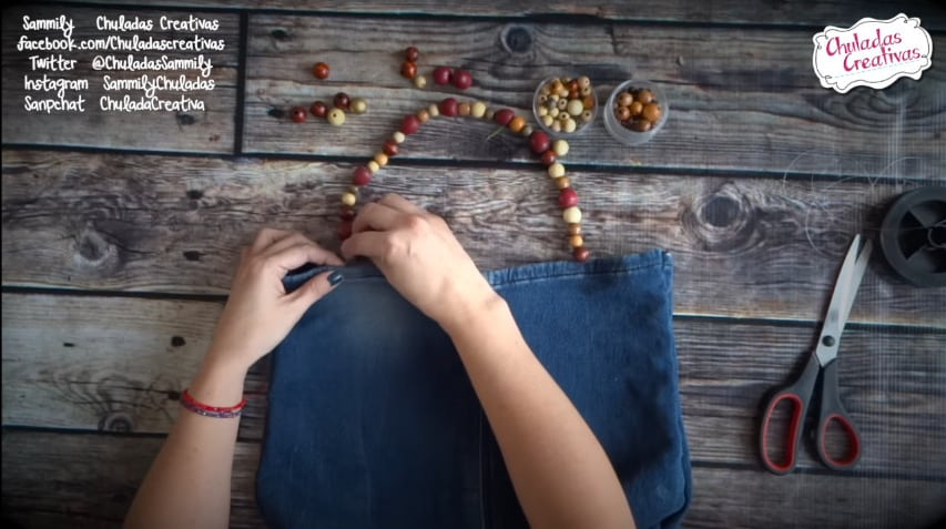How to make summer bag with denim10