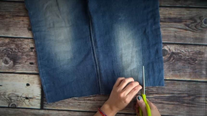 How to make summer bag with denim11